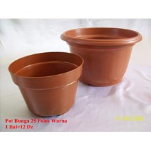 Pot bunga 25 polos warna merk CM