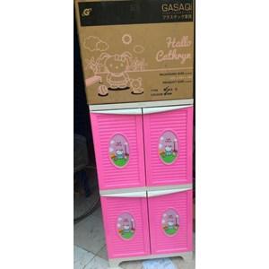 Dari Lemari plastik untuk anak motif Hallo Cathryn merk pabrik Gasaqi 0