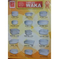 Toples plastik merk Waka untuk packaging kue kering