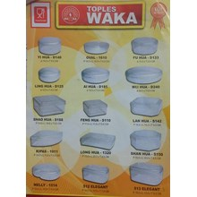 Waka brand plastic jar for packing pastries