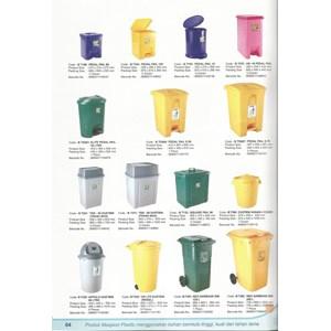 Tempat Sampah Plastik Maspion (Injak  Roda)