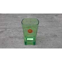 Square plastic cups ( green highlighter ) 325 ml brands Golden Dragon code 851