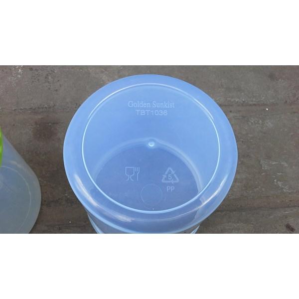 produk plastik rumah tangga toples bulat plastik merk golden sunkist kode tbt1036