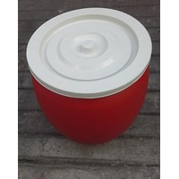 produk plastik rumah tangga Gentong air 30 liter plastik warna merah merk pabrik AG 1