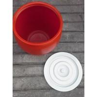 Distributor produk plastik rumah tangga Gentong air 30 liter plastik warna merah merk pabrik AG 3