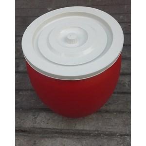 produk plastik rumah tangga Gentong air 30 liter plastik warna merah merk pabrik AG