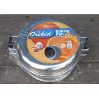 Jual pemanggang roti Baking pan alumunium 28 cm merk orchid 2