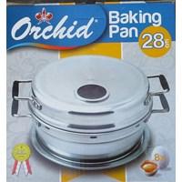 Distributor pemanggang roti Baking pan alumunium 28 cm merk orchid 3