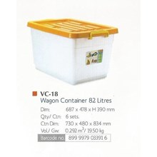 household plastic products plastic container box 100 litres code vc 20 lion star