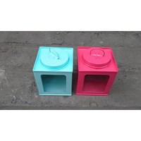 mainan model dan miniatur Kaleng kotak miniatur kaleng krupuk warna warni