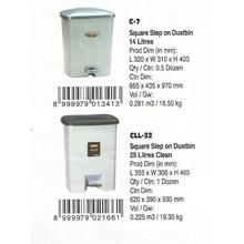 produk plastik rumah tangga Tempat sampah plastik segi injak merk Lion Star kode C13