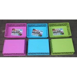 Dari produk rumah tangga Basket plastik segi serbaguna verona merk Lucky Star kode 450 3