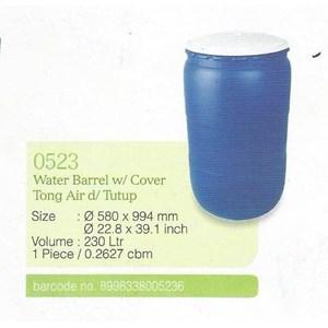 produk plastik rumah tangga Barel Drum tong air plastik merk Greenleaf kode 0512 0515 0523