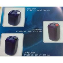 penyimpanan bahan kimia Jerigen plastik 20 kg 25 kg 30 kg chem merk JL warna biru