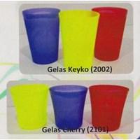 Jual gelas plastik keyko 2002 dan tipe cherry 2101 produk lemony 2