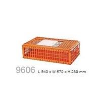 Beli produk plastik pertanian Kandang keranjang ayam plastik besar kuat tebal kode 9606 merk Rabbit 4