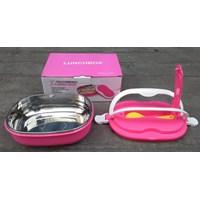 Beli peralatan makan lainnya tempat makan Lunch box ESA kombinasi plastik dan Stainless bentuk oval  4