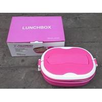 Jual peralatan makan lainnya tempat makan Lunch box ESA kombinasi plastik dan Stainless bentuk oval  2