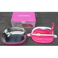 Distributor peralatan makan lainnya tempat makan Lunch box ESA kombinasi plastik dan Stainless bentuk oval  3