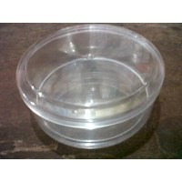 Toples plastik mika bulat 0.25 kg merk AG tempat wadah kue kering lebaran