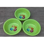 Baskom plastik bulat no 13 violet merk clarita warna hijau 4