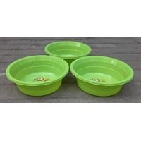 Baskom plastik bulat no 13 violet merk clarita warna hijau 1