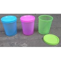 Jual Gelas Plastik tutup warna warni kode 219 merk ASA 2
