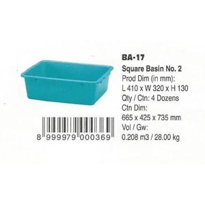 produk plastik rumah tangga Bak segi Plastik no 2 kode BA 17 Lion Star