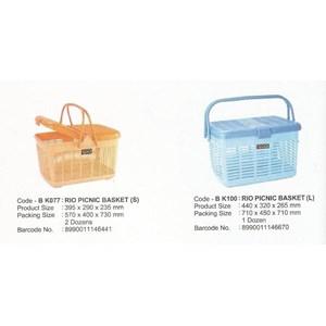 Keranjang Plastik piknik RIO BK077 dan BK100 produk Maspion