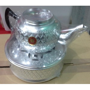 peralatan makan lainnya Teko ceret almini dengan motif batik arab acara selamatan haji