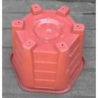 taman Pot bunga plastik no Segi enam warna merah bata no 30 Merk Eko Plast 4