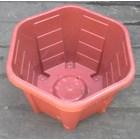 taman Pot bunga plastik no Segi enam warna merah bata no 30 Merk Eko Plast 3