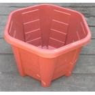 taman Pot bunga plastik no Segi enam warna merah bata no 30 Merk Eko Plast 2