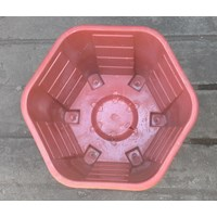 taman Pot plastik no Segi enam warna merah bata no 30 Merk Eko Plast Murah 5