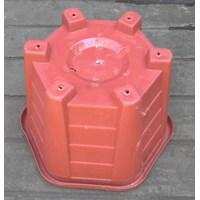 Beli taman Pot plastik no Segi enam warna merah bata no 30 Merk Eko Plast 4