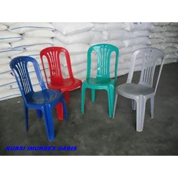 Kursi makan plastik tipe Imundex garis produk Blueshark