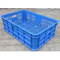 Beli keranjang plastik multiguna lubang TOP kode B003 ukuran 62 x 42 x tinggi 20 cm biru 4