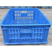 keranjang plastik multiguna lubang TOP kode B003 ukuran 62 x 42 x tinggi 20 cm biru 1