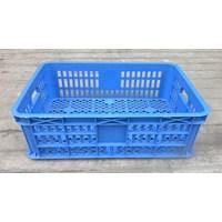 Jual keranjang plastik multiguna lubang TOP kode B003 ukuran 62 x 42 x tinggi 20 cm biru 2