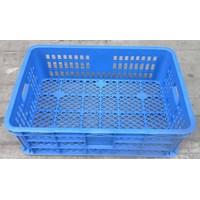 Distributor keranjang plastik multiguna lubang TOP kode B003 ukuran 62 x 42 x tinggi 20 cm biru 3