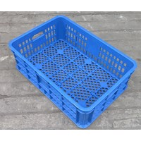 keranjang plastik multiguna lubang TOP kode B003 ukuran 62 x 42 x tinggi 20 cm biru Murah 5