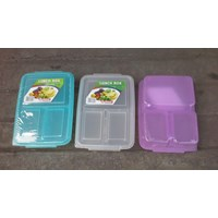 Distributor Kotak Makan tepak makan sekat atau lunch box 0718 merk DianSari plast 3
