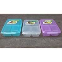 Kotak Makan tepak makan sekat atau lunch box 0718 merk DianSari plast 1