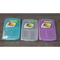 Jual Kotak Makan tepak makan sekat atau lunch box 0718 merk DianSari plast 2