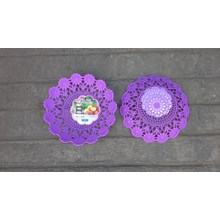 Plastic woven plastic plate flower code 5506 Dx purple Lucky Star product
