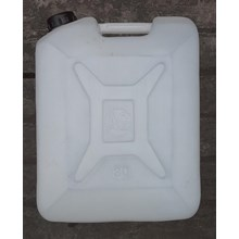 Agen Jerigen plastik untuk menampung air bersih 30 liter AG putih
