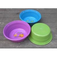 Jual Waskom atau Baskom plastik bulat warna warni ukuran 15 Violet Clarita 2