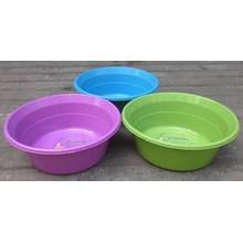 Waskom atau Baskom plastik bulat warna warni ukuran 15 Violet Clarita