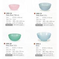 produk plastik rumah tangga Mangkok salad plastik ruby bowl lionstar 1
