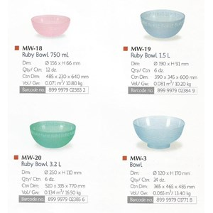 produk plastik rumah tangga Mangkok salad plastik ruby bowl lionstar